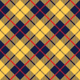 Textura de tecido tartan laranja azul diagonal pouco padrão sem emenda