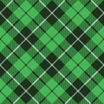 Textura de tecido tartan verde diagonal pouco padrão sem emenda
