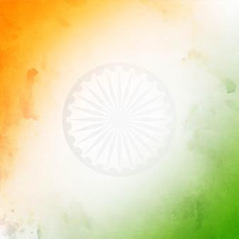 Textura de tema de bandeira indiana tricolor decorativa