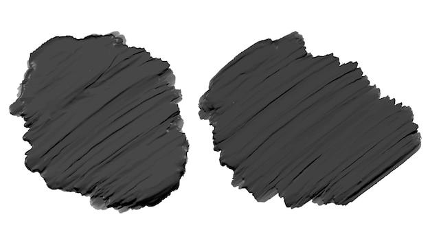 Textura de tinta acrílica aquarela preta espessa