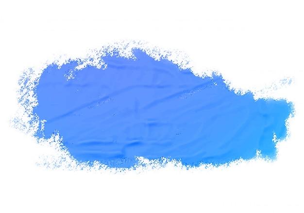 Textura de tinta azul aquarela abstrata