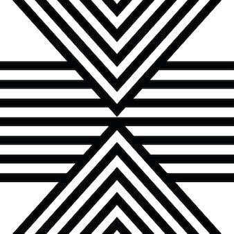Textura de vetor de arte linear africana étnica sem costura ou fundo listrado
