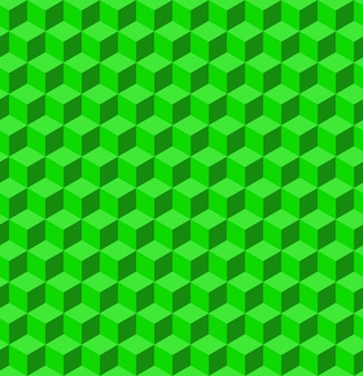 Textura de volume feita de cubos verdes. 3d padrão geométrico. ilustração vetorial abstrato geométrico com cubos.