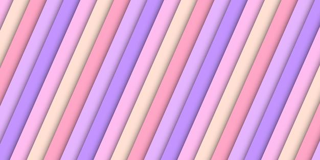 Textura diagonal de cor pastel abstrata com linhas coloridas de papel gradiente. fundo abstrato do corte do papel das listras.
