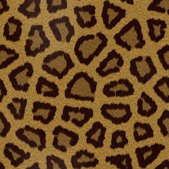 Textura do cabelo leopard