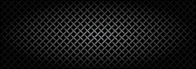 Textura do microfone de grade de metal em fundo escuro.