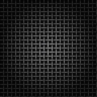 Textura do microfone de grade de metal sem costura em fundo escuro.