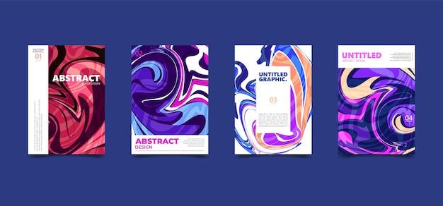 Textura fluida abstrata colorida. pôster de capa moderna