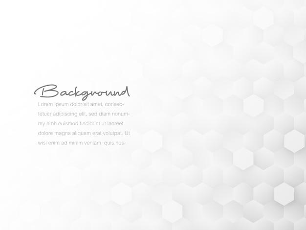 Textura geométrica abstrata do favo de mel da telha, polígono branco e cinzento, fundo do conceito de tecnologia.