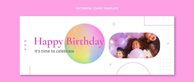 Textura gradiente aniversário capa do facebook