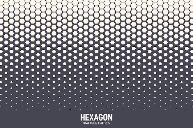 Textura hexagonal de meio-tom padrão geométrico retro colorido tecnologia de fundo abstrato