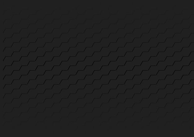 Textura hexagonal preta geométrica
