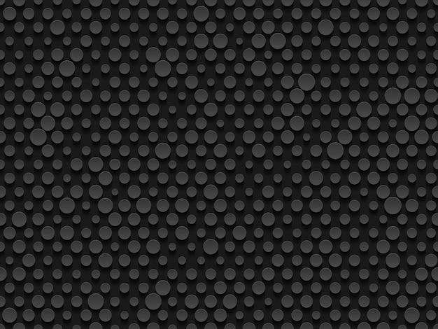 Textura infinita do cilindro de volume em relevo realista industrial abstrato, fundo de círculos deprimidos, padrão geométrico sem emenda 3d. pano de fundo cibernético de ponto redondo. vetor digital de techno futurista.