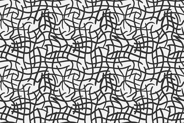 Textura líquida padrão abstrato. malha em preto e branco. fundo sem emenda do vetor.