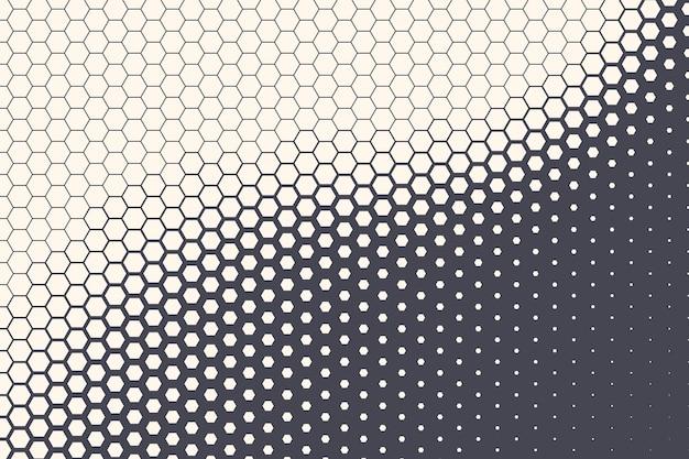 Textura padrão hexagonal de meio-tom abstrato geométrico fundo de tecnologia
