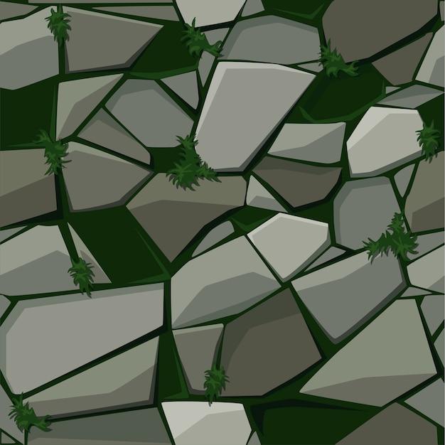 Textura para pavimentação de pedra na grama.