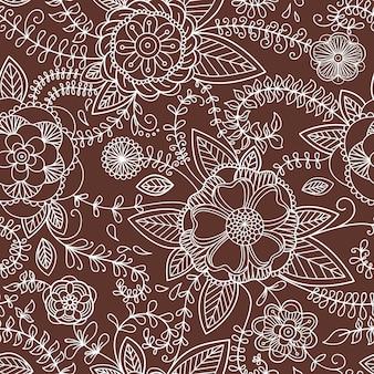 Textura perfeita com flores