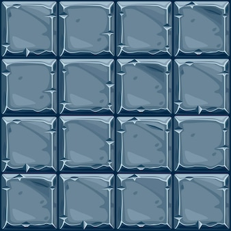 Textura perfeita de pedra quadrada azul, azulejos de parede de pedra de fundo. ilustração vetorial para interface de usuário do elemento do jogo