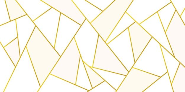 Textura poligonal metálica dourada