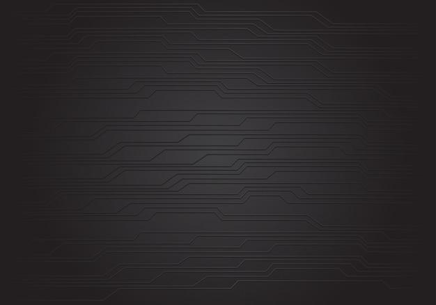 Textura preta abstrata do fundo do circuito.