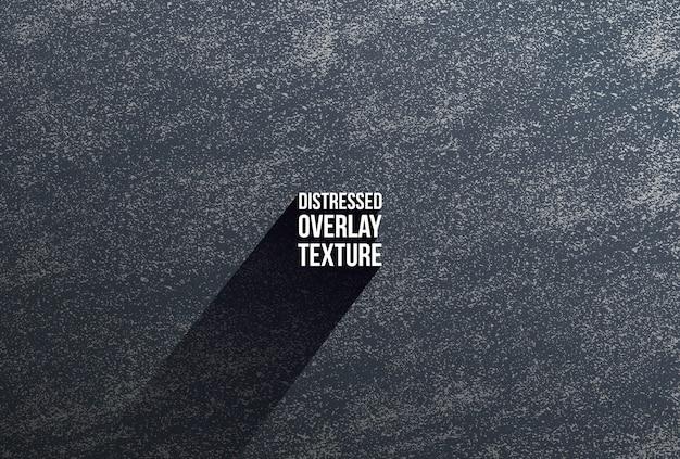 Textura preta de sobreposição desgastada de concreto rachado, pedra ou asfalto.