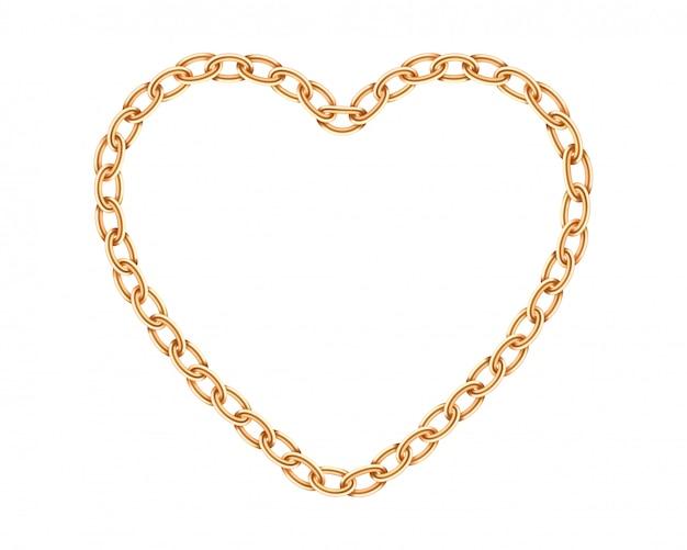 Textura realista cadeia de ouro.