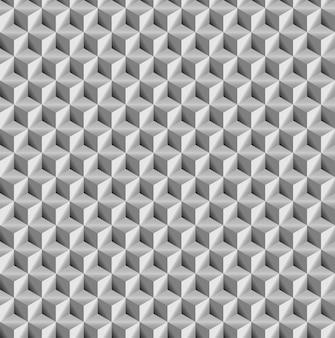 Textura realista, cinza 3d cubos quadrados sem costura padrão geométrico