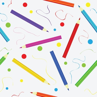 Textura sem costura com lápis. padrão colorido infinito. modelo para planos de fundo de design, têxteis, papel de embrulho, pacote