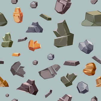 Textura sem costura com pedras de cores diferentes