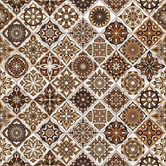 Textura sem costura floral ornamentada, infinita padrão com elementos de mandala vintage.