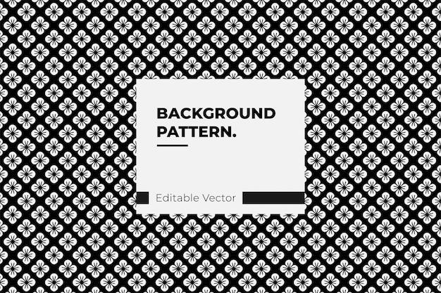 Textura sem costura japonesa floral padrão geométrico ornamento preto