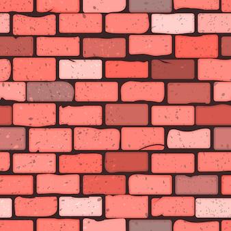 Textura sem costura padrão de uma parede de tijolos