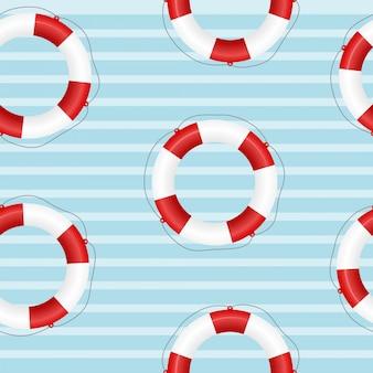 Textura sem emenda de um salva-vidas