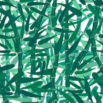 Textura sem emenda do teste padrão da floresta de bambu abstrata no fundo branco.