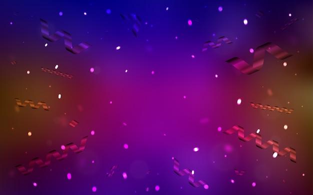 Textura vector vermelho com confete de aniversário