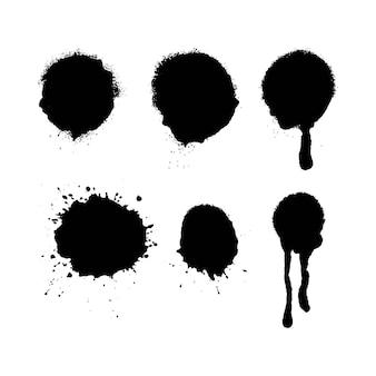 Texturas de explosão de tinta spray com spray excessivo texturas altamente detalhadas tiradas de digitalizações de alta resolução