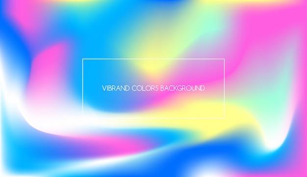 Texturas de gradiente holográfico para design de néon de fundo