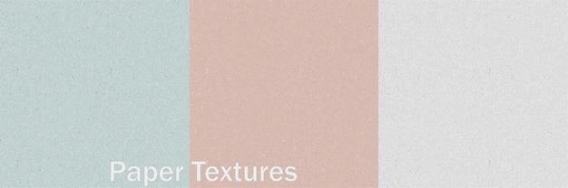 Texturas de papel em cores modernas