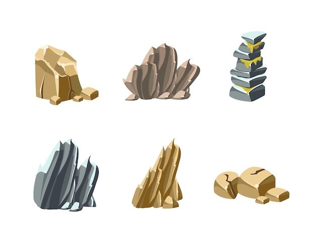 Texturas de pedras e rochas