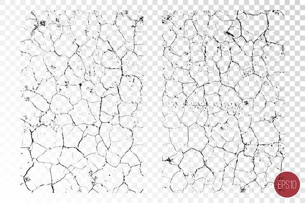 Texturas de sobreposição detalhadas angustiadas de superfície áspera, solo seco, solo rachado.
