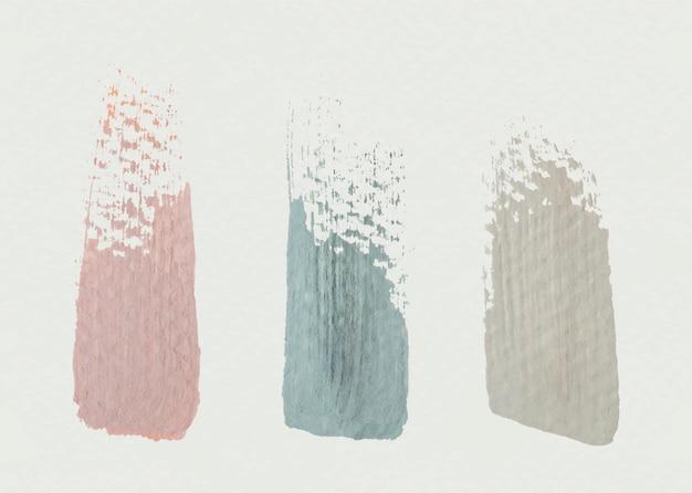 Texturas de traçados de pincel