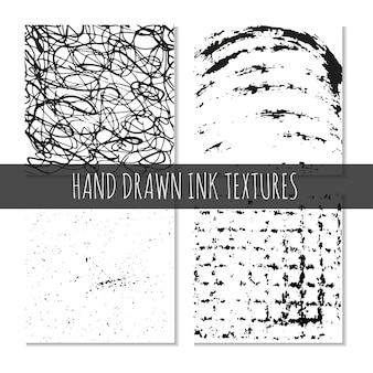 Texturas desenhadas à mão com tinta podem ser usadas para papel de parede, fundo, camisetas, desenhos, cartões, estampas