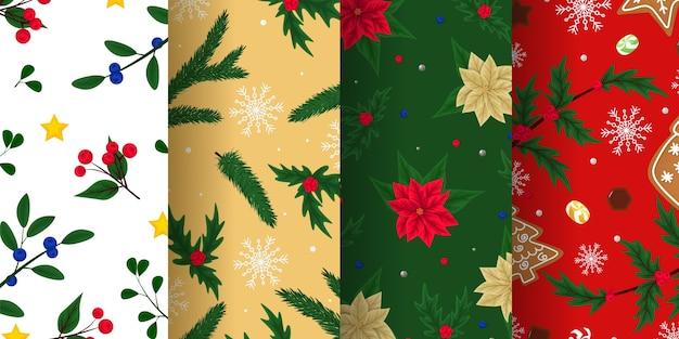 Texturas infinitas de natal para papel de parede