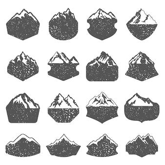 Texturizadas formas de montanha