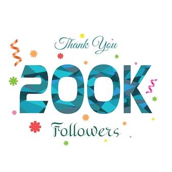 Thank you followers modelo de design 200k