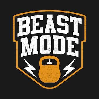 The beast, sport mode, com kettlebell