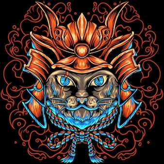 The cat samurai japão