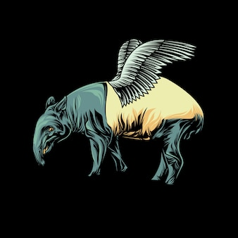 The flying tapir