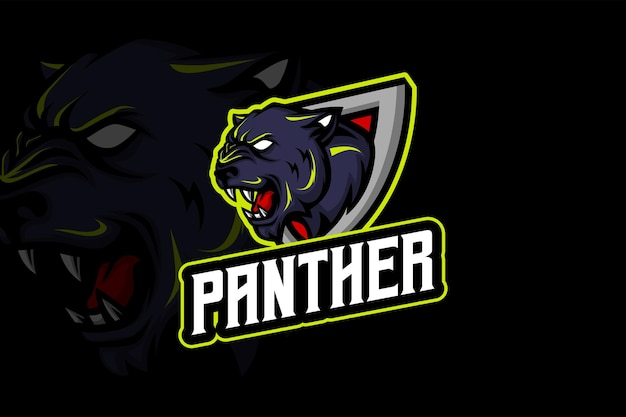 The panther - modelo de logotipo esport