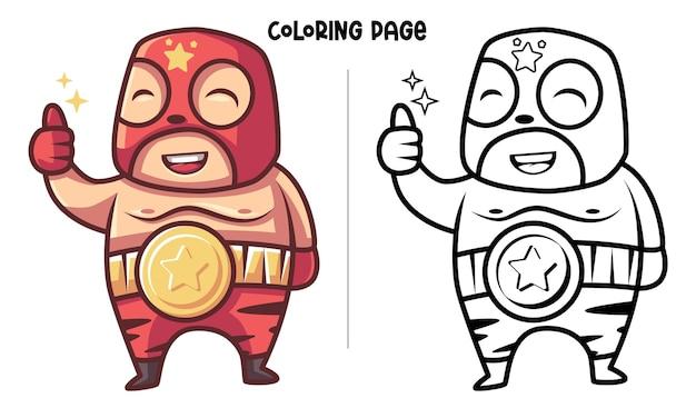 The red mask wrestler é o vencedor